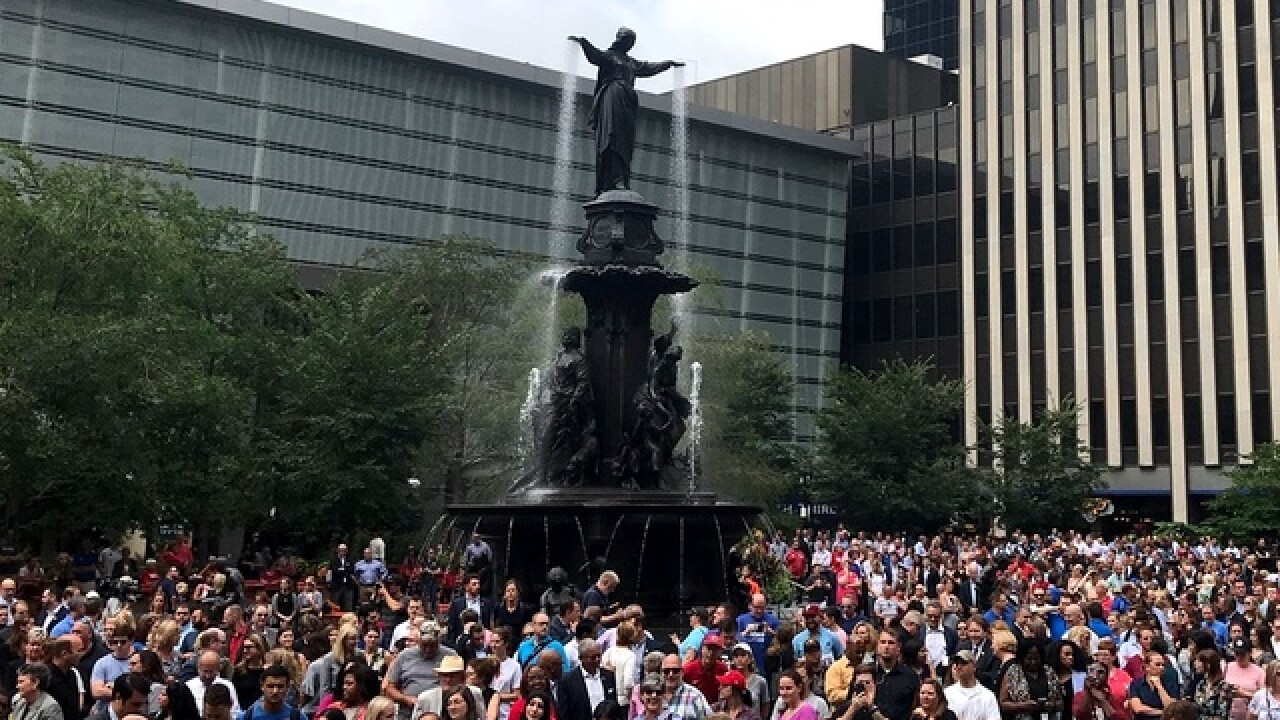 Vigil for shooting victims in Fountain Square