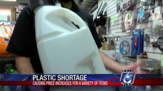 Plastic shortage causing price hikes