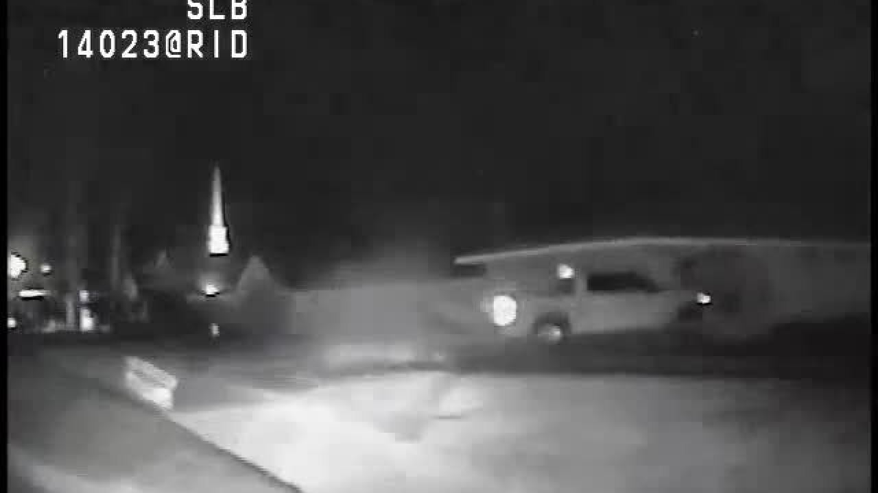 Dash cam video shows pursuit of suspect