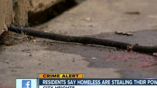 Woman says homeless are stealing power from her apartment complex