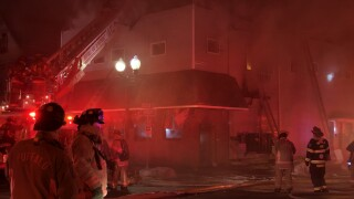 Buffalo Fire crews battle a three-alarm fire on Gold Street.