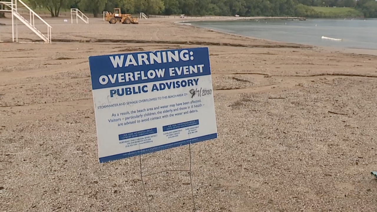 Labor Day storms cause sewage overflow closing Edgewater Beach