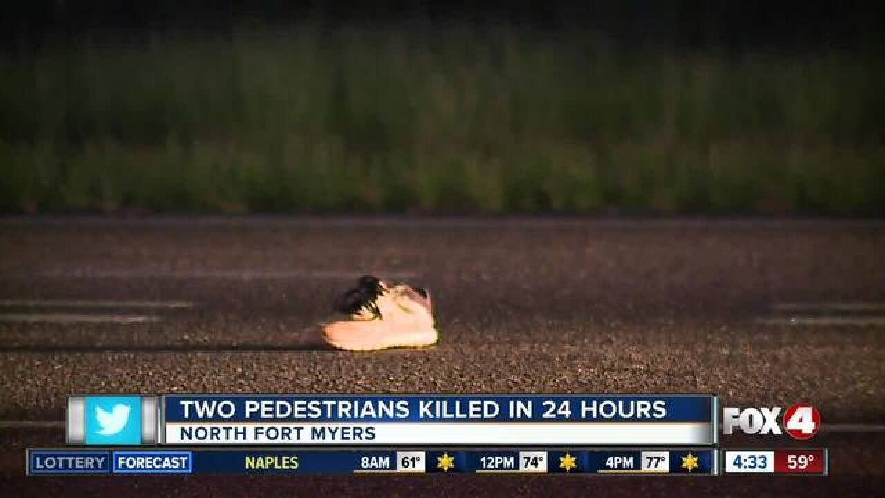 Pedestrian hit and killed in North Fort Myers Wednesday night