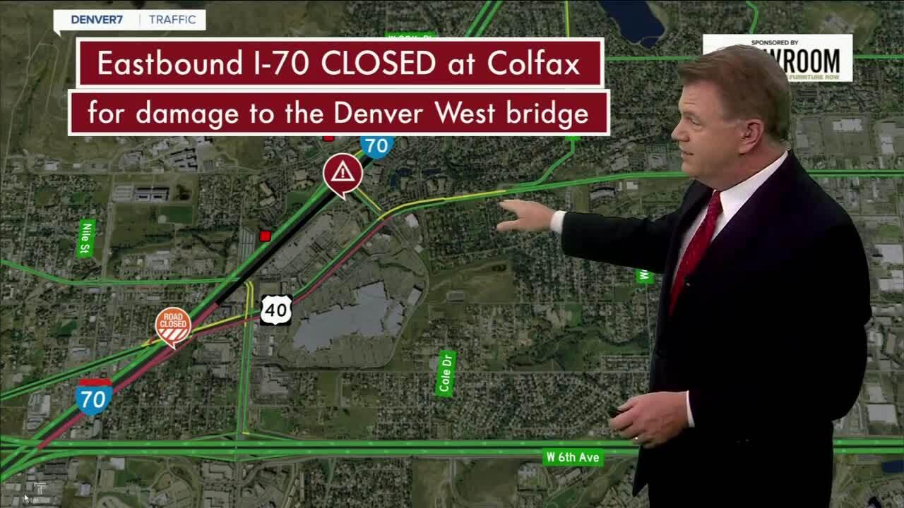I-70 crash at denver west bridge_sept 23 2021