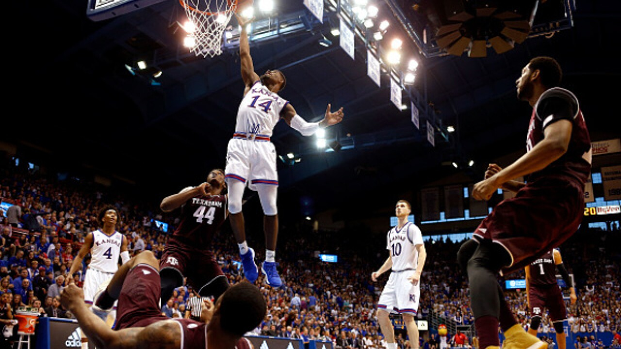 Kansas gets early lead to beat Texas A&M 79-68