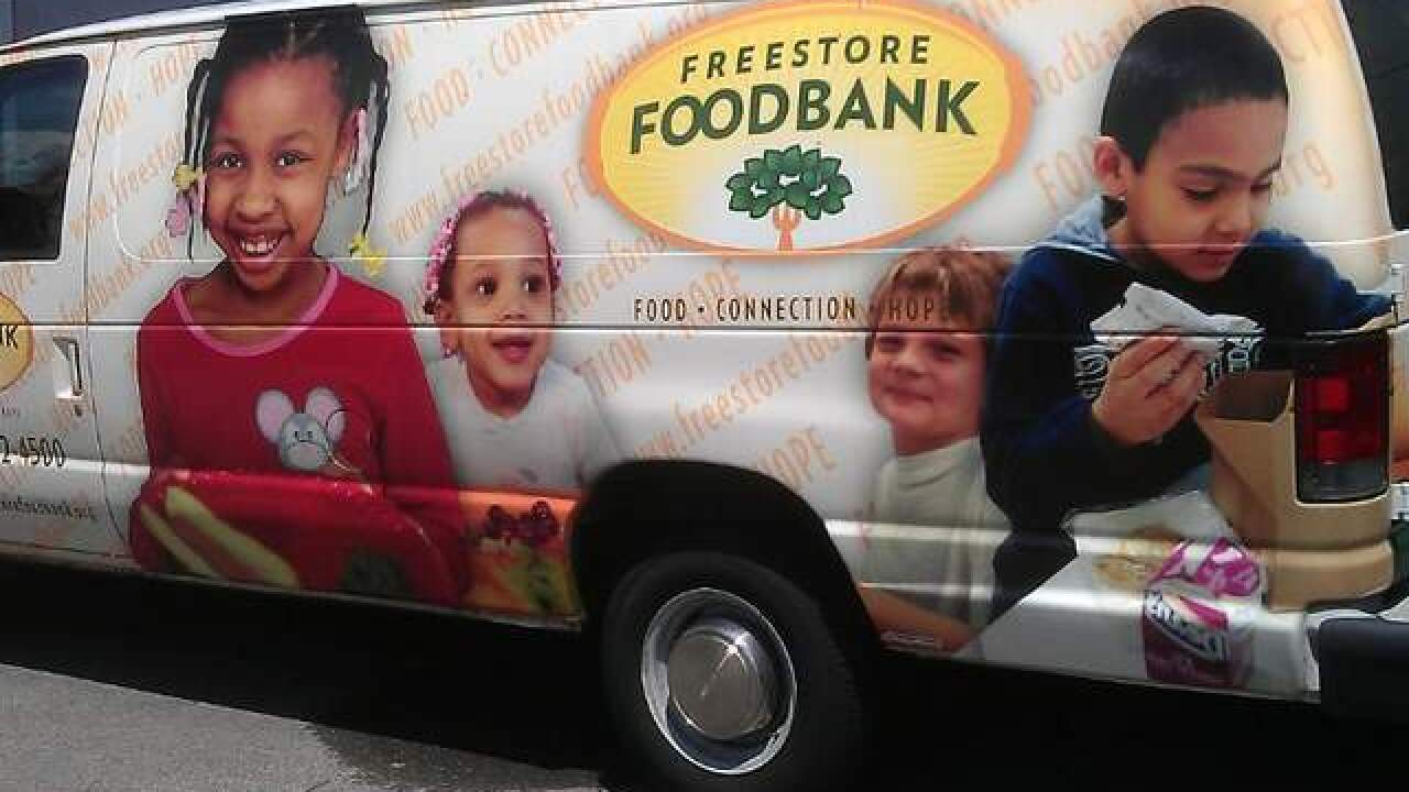 Freestore Foodbank hands out Christmas meals