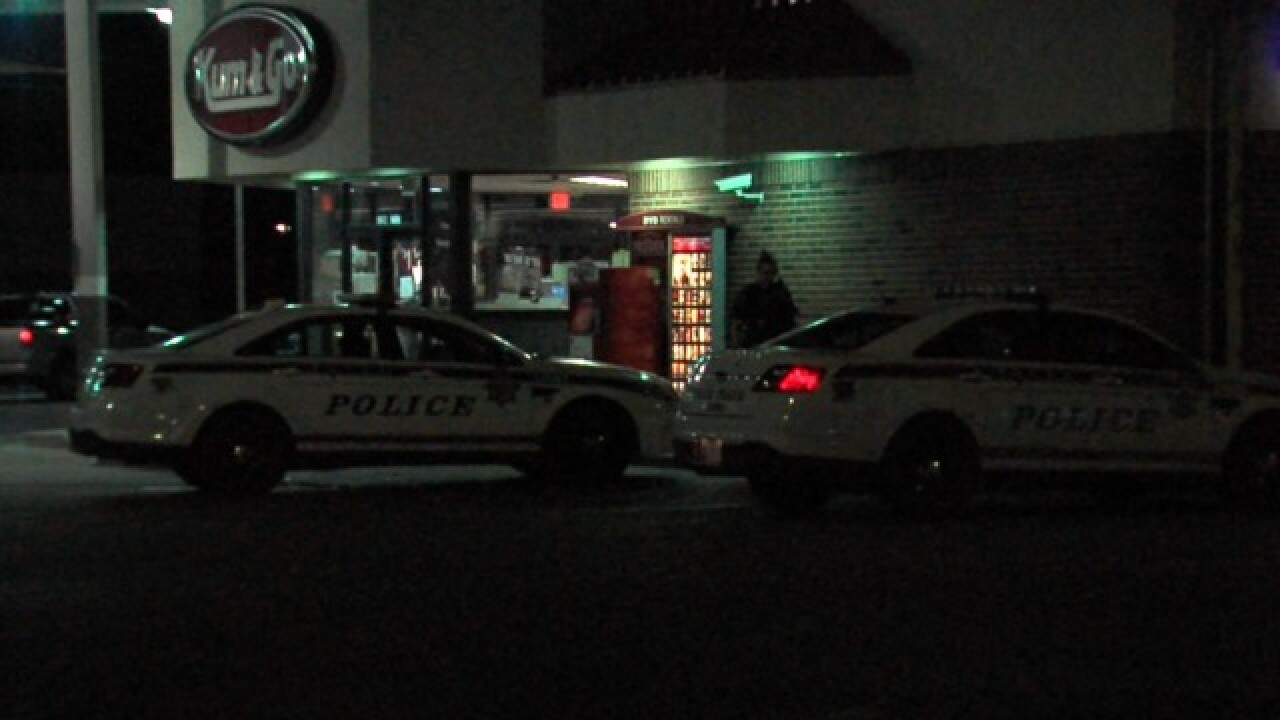 A South Tulsa gas station was robbed late last night