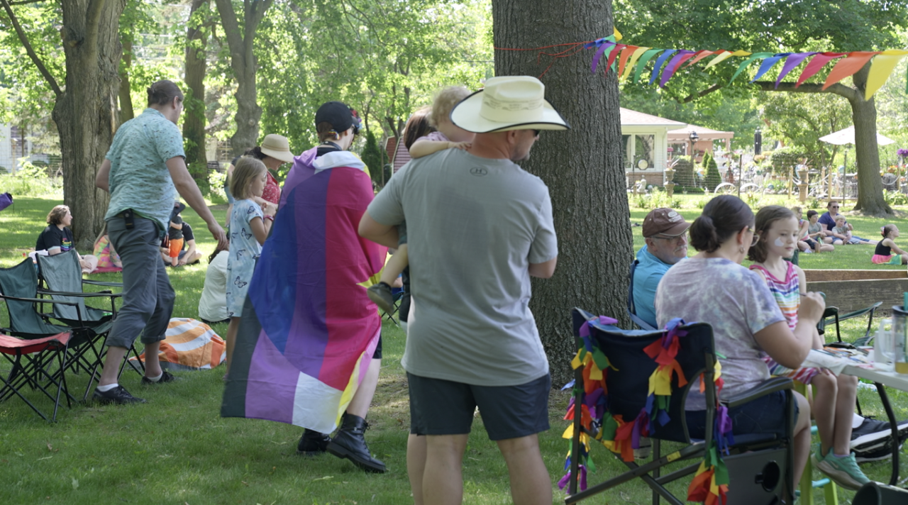 Flags, face painting and pride