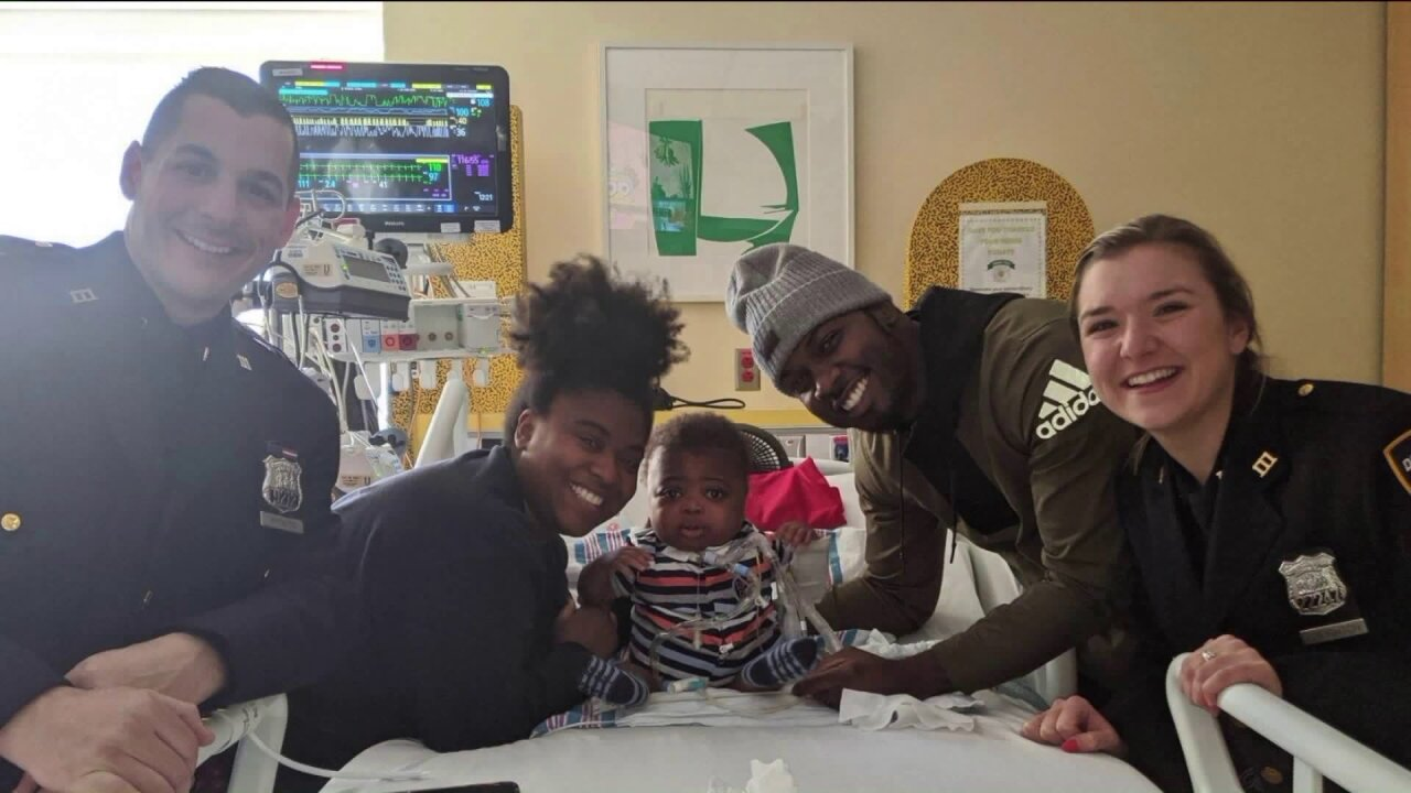 NYPD officers save unconscious baby with heart defect