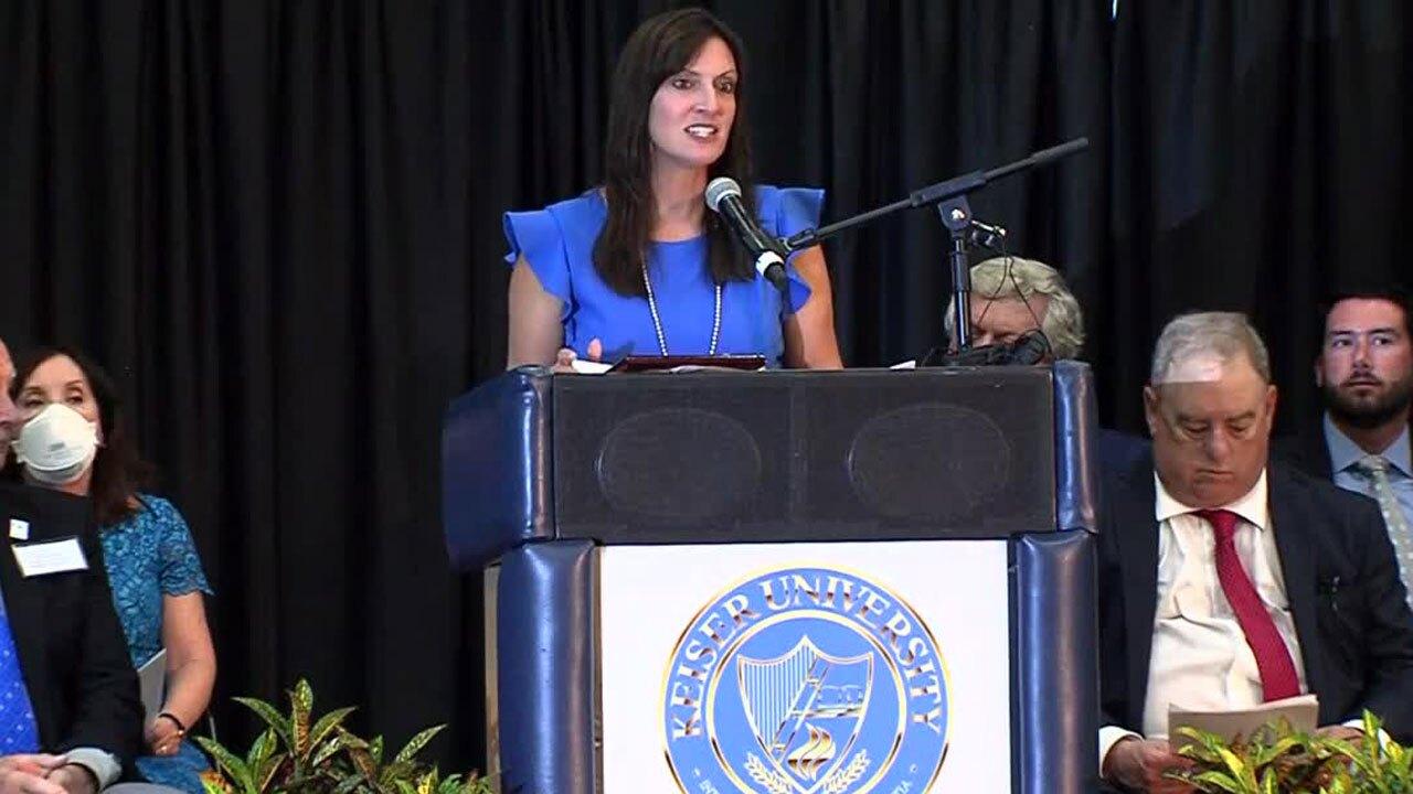 Lt. Gov. Jeanette Nunez speaks at Keiser University on Aug. 9, 2021