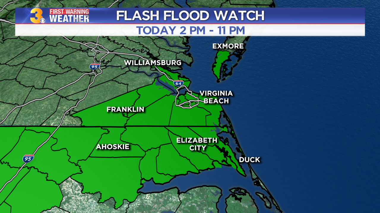 Tuesday's First Warning Forecast: Very heavy rain with Flash Flooding likely