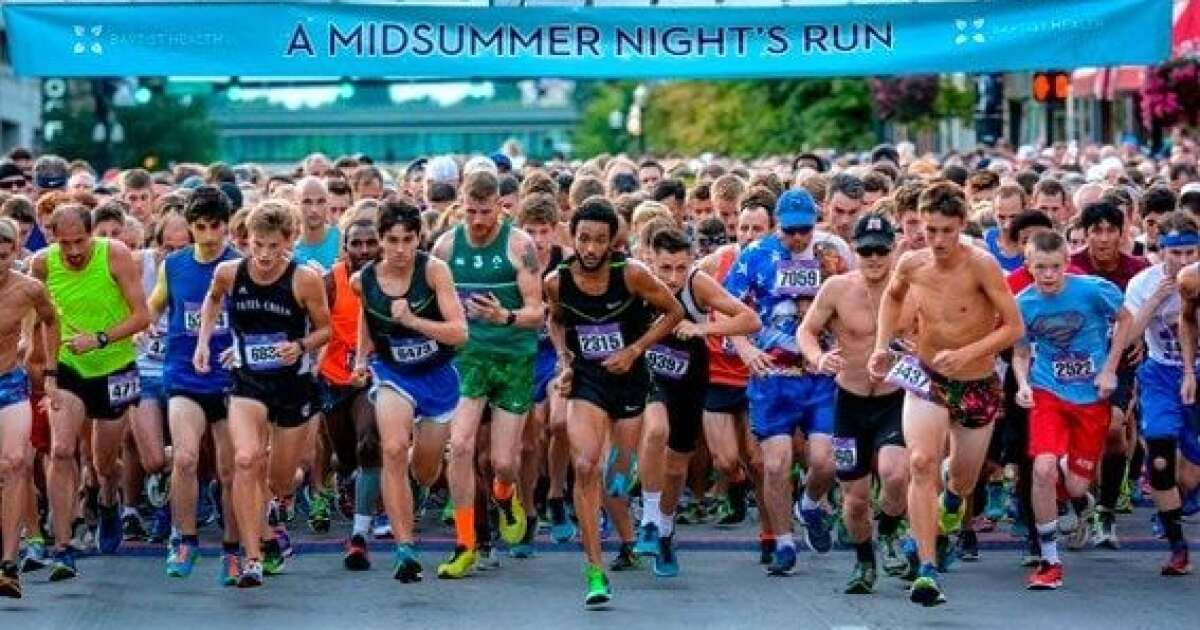 Runners lace up for 35th annual 'A Midsummer Night's Run'