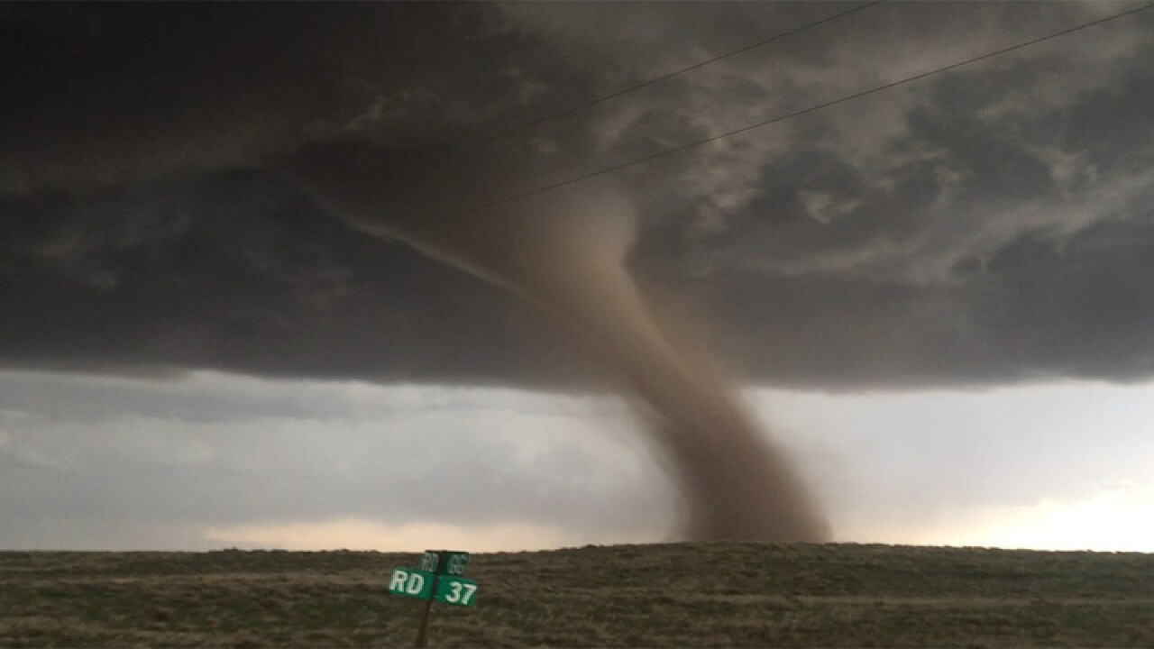 Tornado Watch until 7 p.m. for areas E of I-25