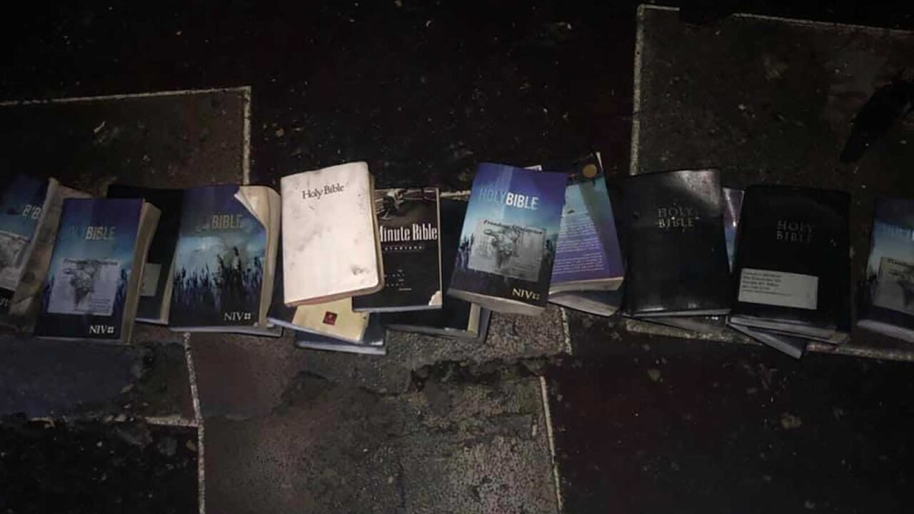 A fire devastated a West Virginia church — but no Bibles burned