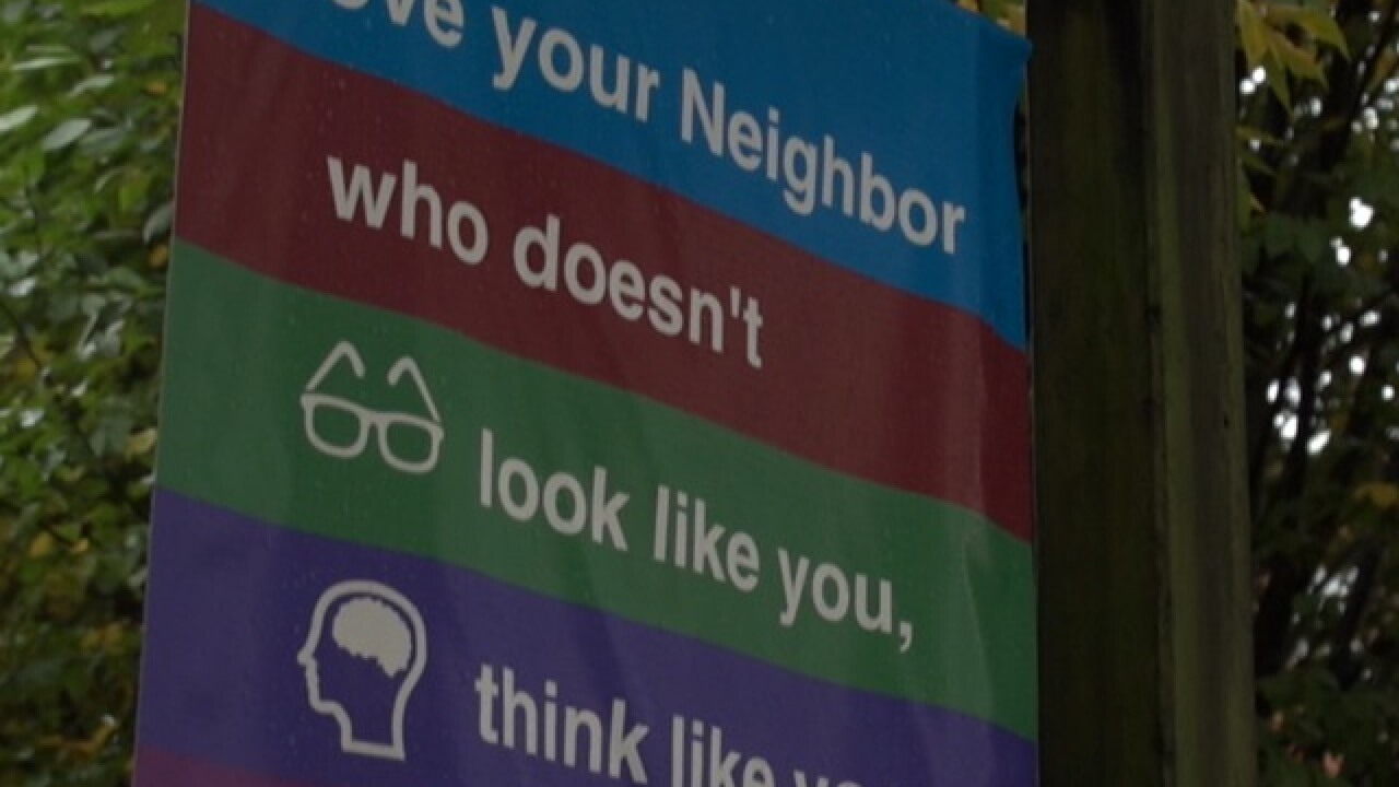 Sign's message of unity and love goes viral