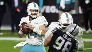 Miami Dolphins QB Ryan Fitzpatrick vs. Oakland Raiders in 2020