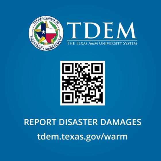 Report damage QR code