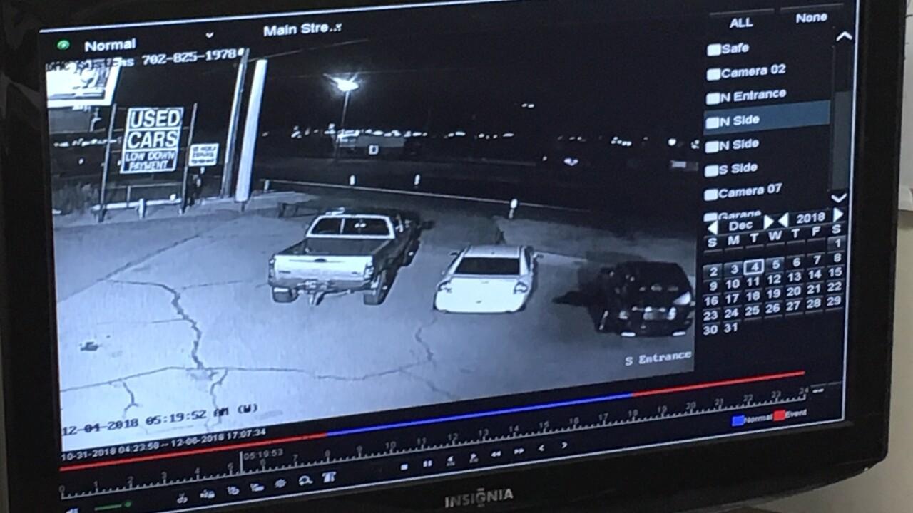 F-350 TRUCK STOLEN FROM HENDERSON CAR LOT