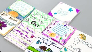 Students Decorate Tiles To Spread Inspiring Messages
