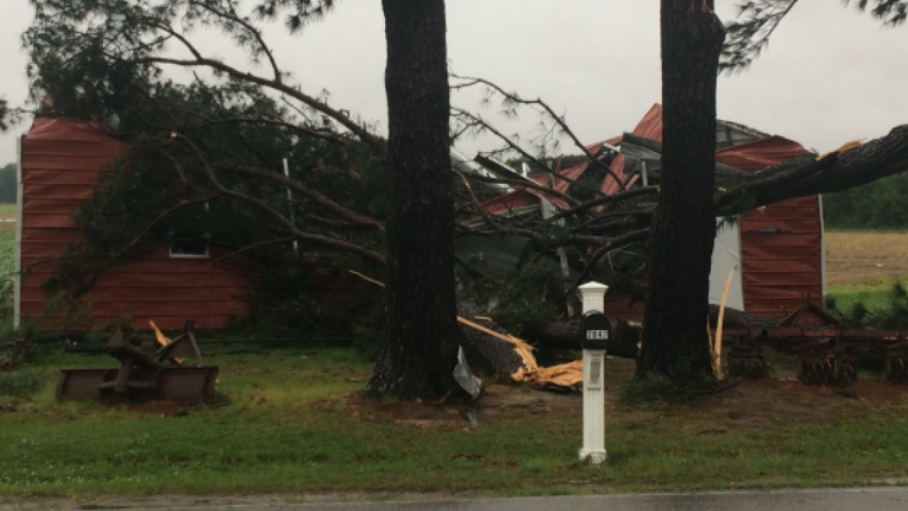 Friday morning tornado causes major damage in Edenton