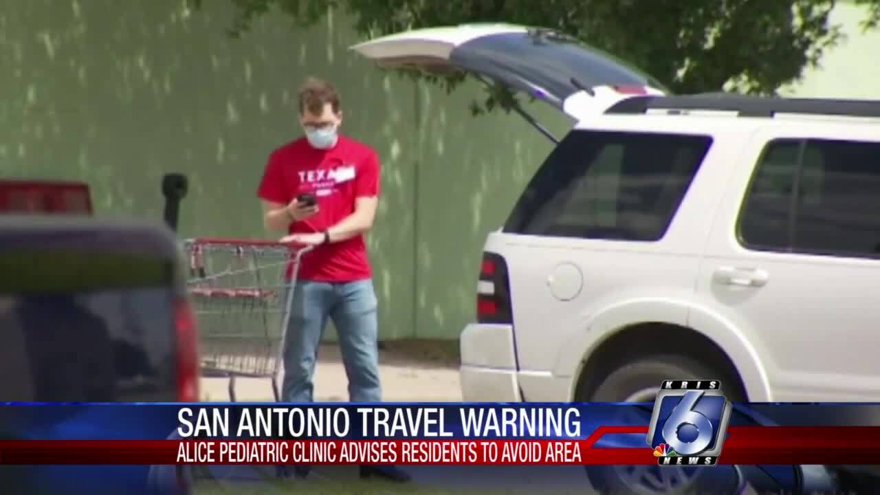 Warning about traveling to the Alamo City