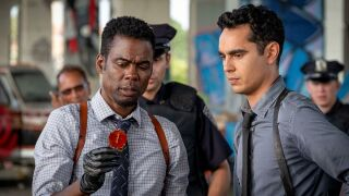 """Chris Rock and Max Minghella star in """"Spiral."""" Photo courtesy of Lionsgate."""