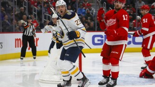 Red Wings shut out by Sabres for seventh straight loss