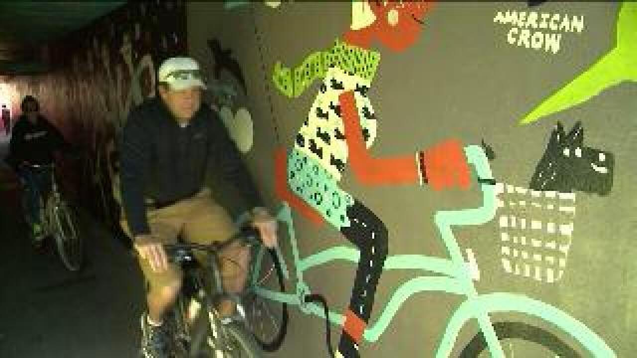 Tunnel murals part of plan to curtail graffiti