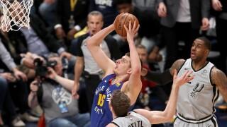 San Antonio Spurs v Denver Nuggets - Game One
