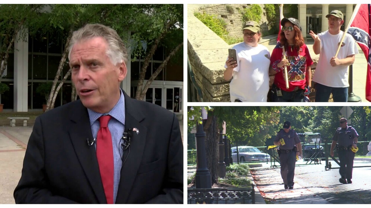 Governor McAuliffe on planned protest: 'Steer clear of Monument Avenue'