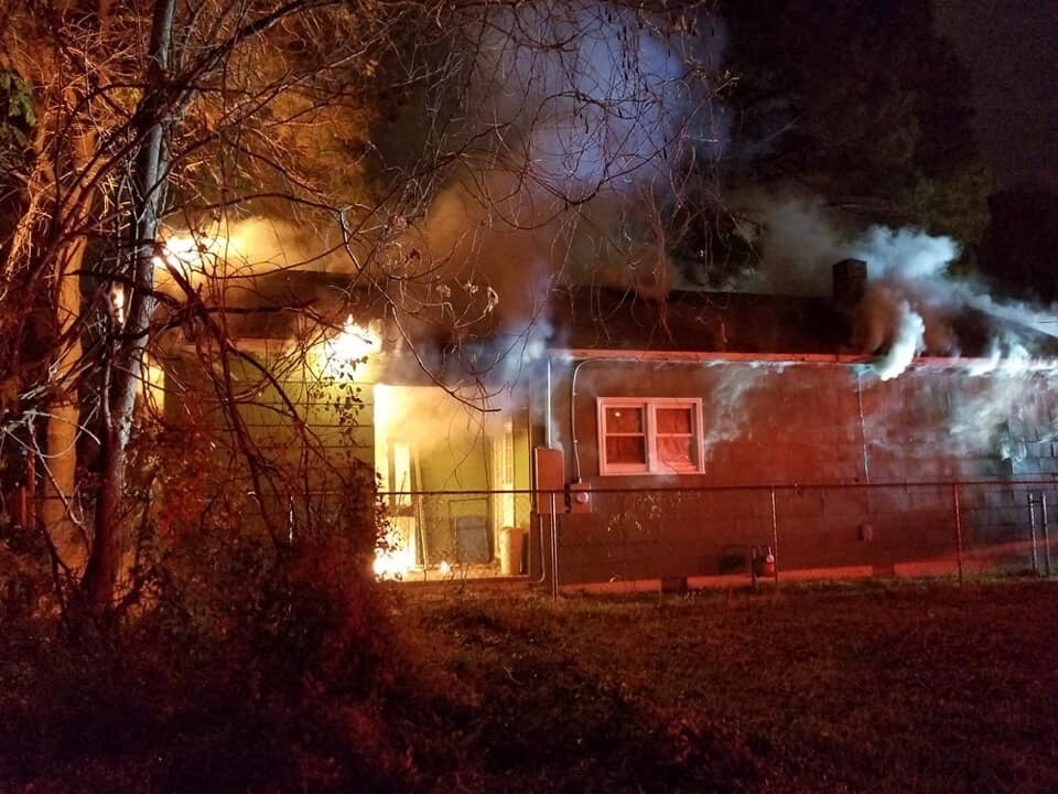 Photos: House under renovation catches fire in Portsmouth