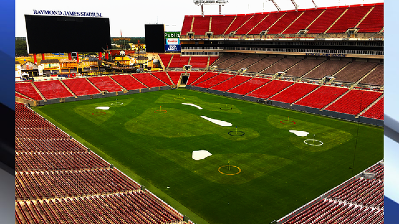 Raymond James Stadium is being turned into a...