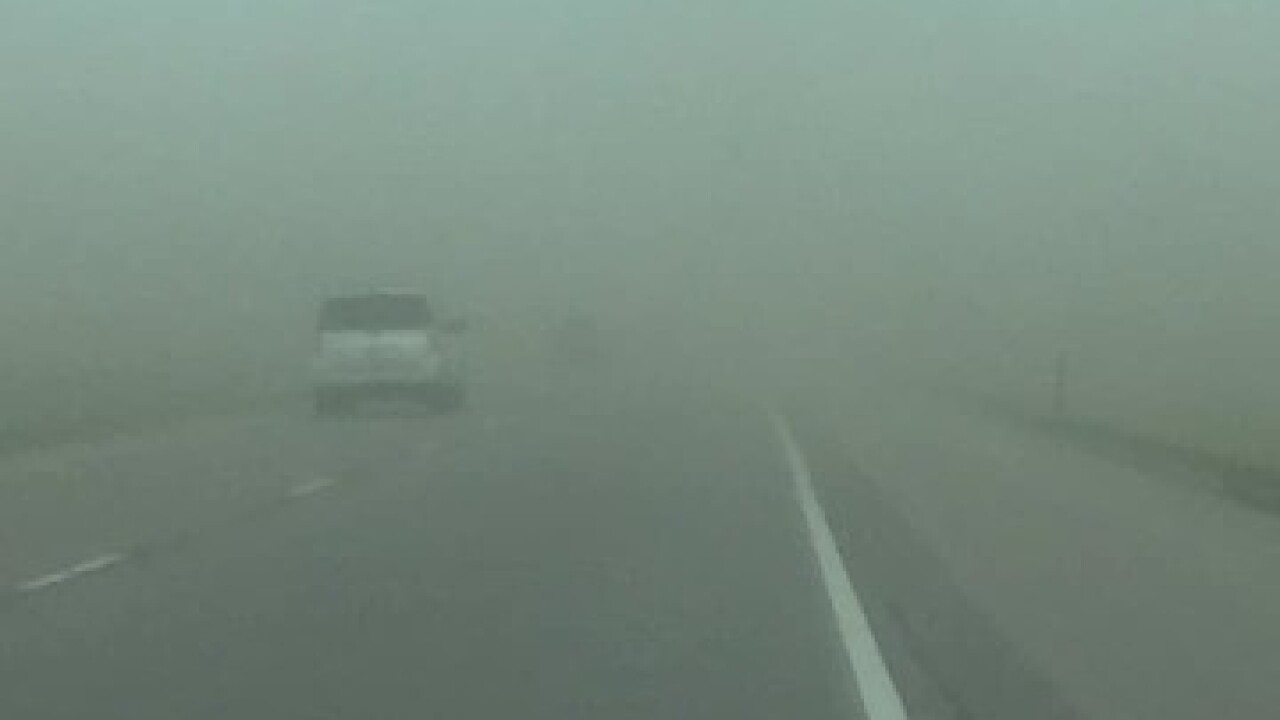 Man dies after dust storm causes pile-up on I-80