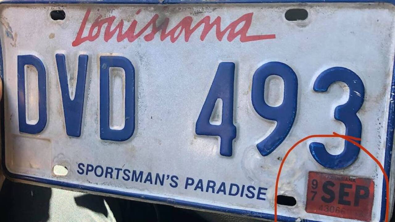 Police in Louisiana pull over car with tags that expired in 1997