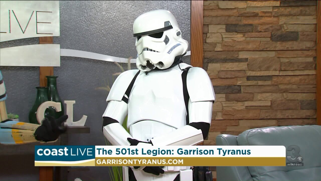 Preparing for May the Fourth with Darth Vader and the troops on Coast Live