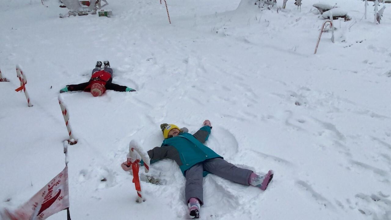 Chloe 7 and Landon 5 taking advantage of snow.jpg