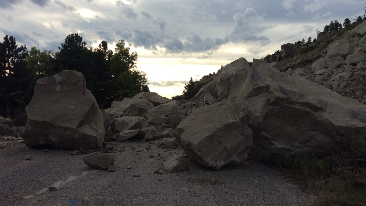 Laredo Place Rock Fall Photo's by Jeanne Sutton