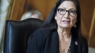 The confirmation hearing for Deb Haaland has raised questions about whether she's being treated differently because she is a Native American woman. Photo via AP.