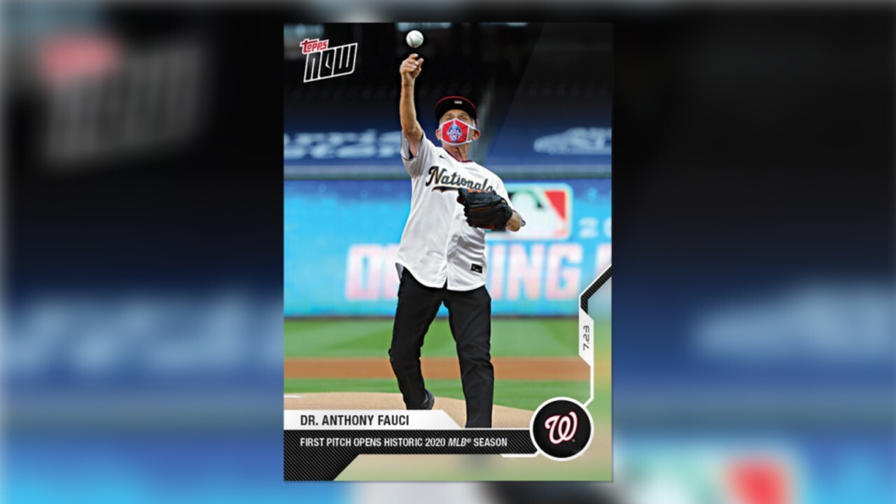 Dr. Fauci's 'rookie' baseball card sets sales record for Topps