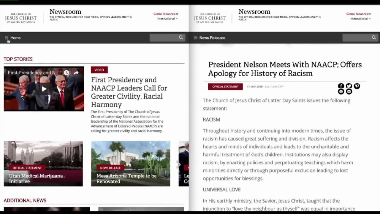 Man behind fake apology for LDS Church's 'history of racism' says he wanted to start adiscussion