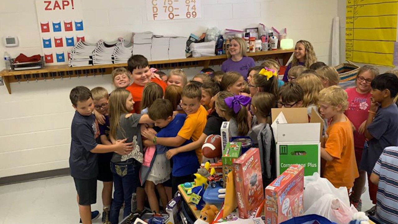 Daniel Hunt watched as flames engulfed his family home, taking all his toys with it. But then, a week later, the devastated 8-year-old was surprised by his third-grade classmates with the results of a toy drive.