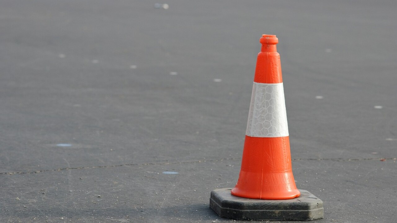 orange cone caution construction