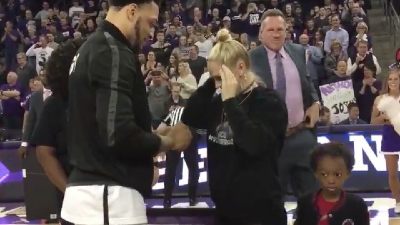 WATCH: GCU basketball player proposes to girlfriend before big game