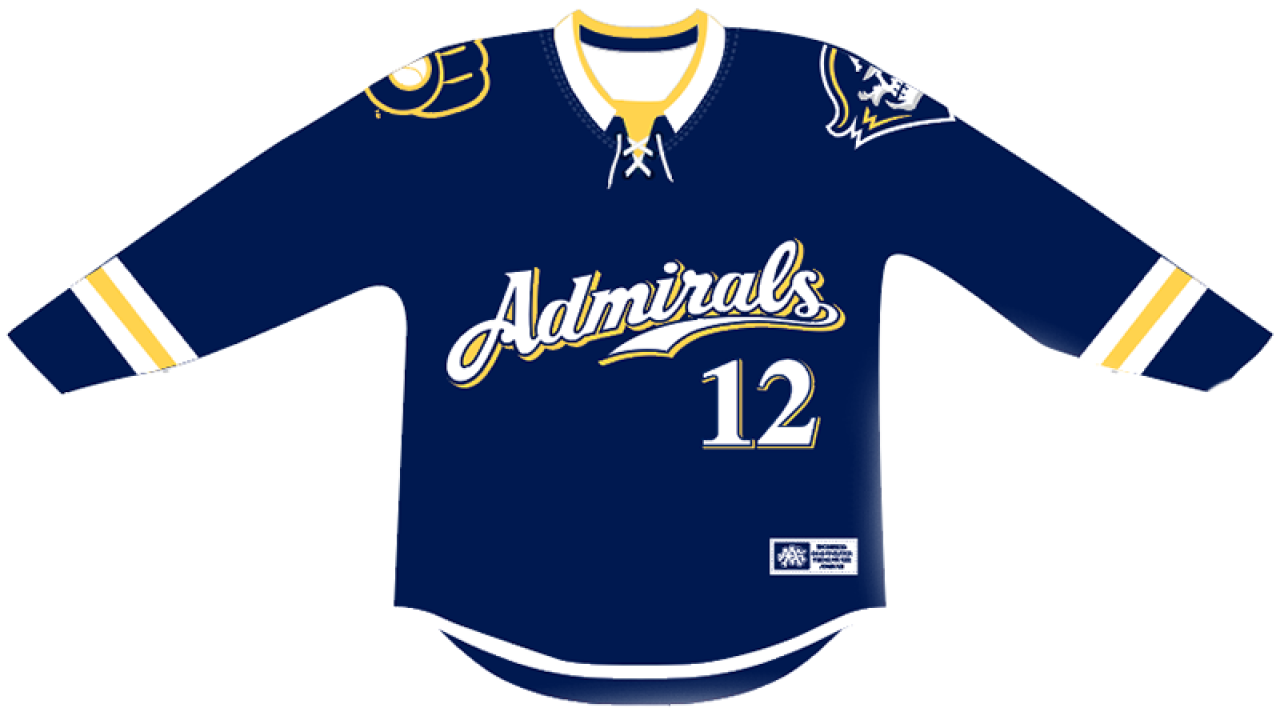 huge discount 7868e 8e524 Milwaukee Admirals to wear Brewers-inspired jerseys this ...