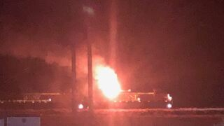 BSNF train engine catches fire in Broadwater County
