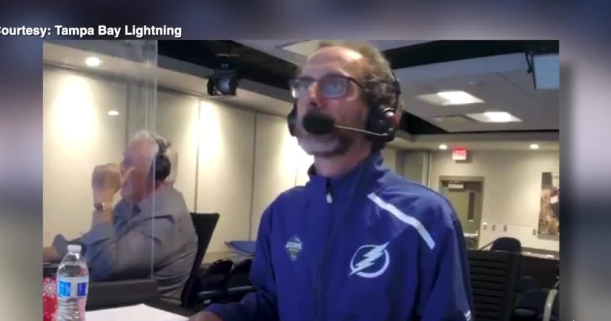 Tampa Bay Lightning radio broadcaster calls Stanley Cup Final from a distance