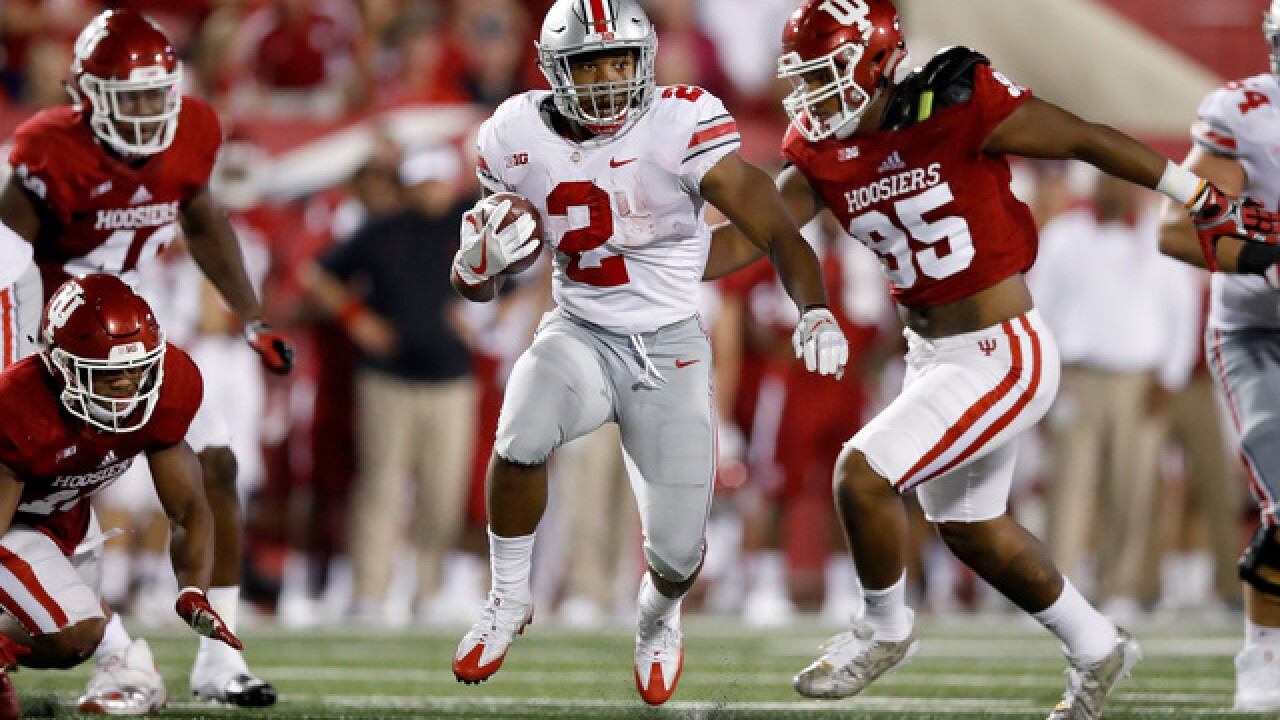 No. 2 Ohio State pulls away to beat Indiana 49-21