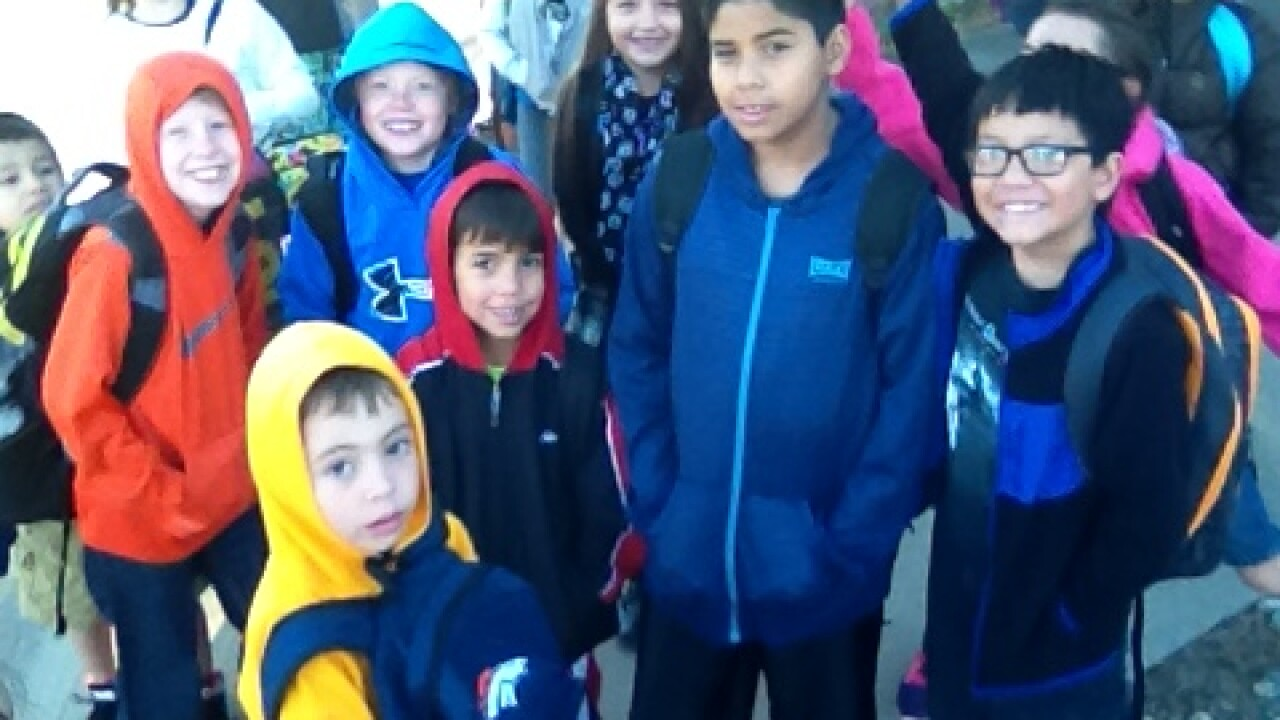 """Local schools participate in """"National Walk to School Day"""""""