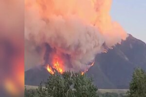 Evacuations ordered in fire south of Red Lodge