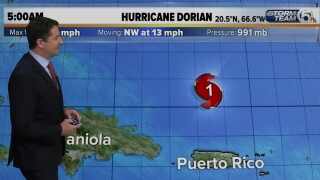 Hurricane Dorian's winds remain at 85 mph, still forecast to become Category 3 storm